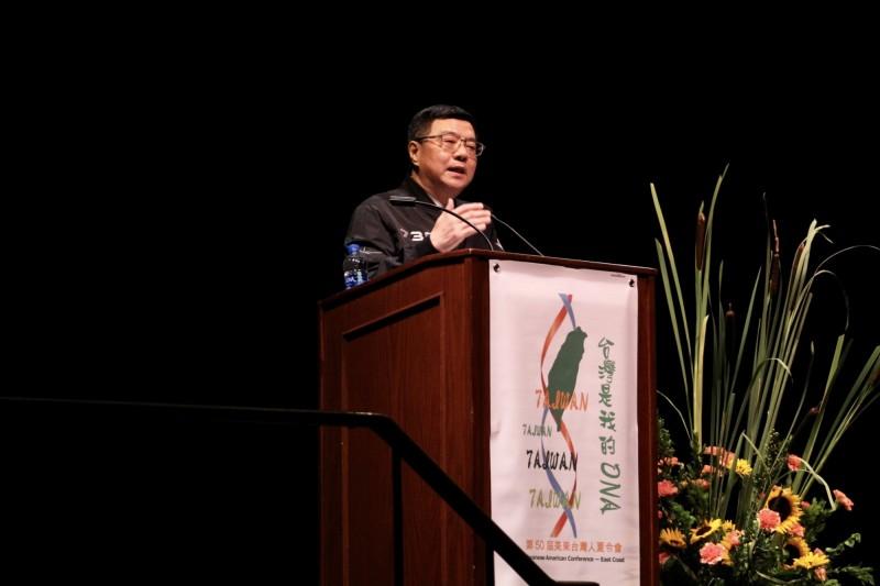民進黨主席卓榮泰訪美,希望支持者能夠支持蔡總統。(民進黨提供)