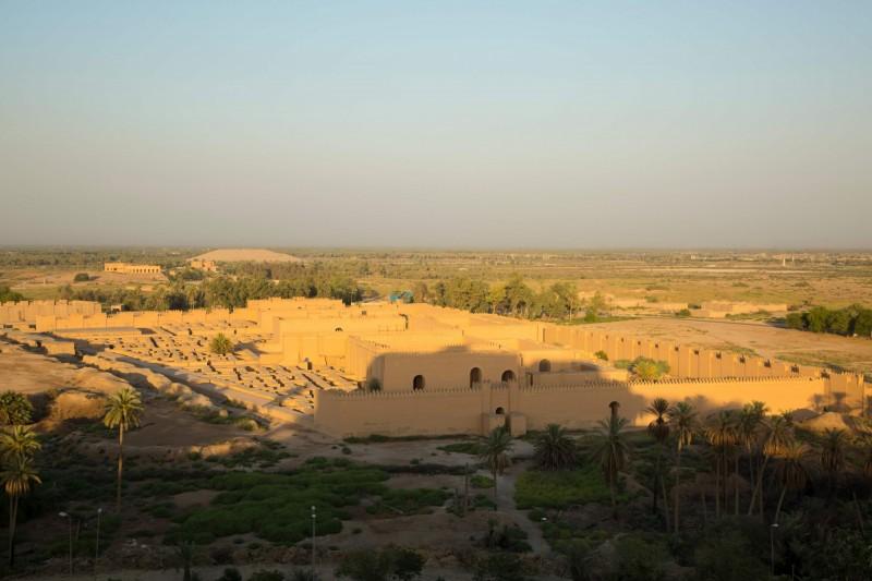 巴比倫古城位於幼發拉底河右岸,是人類文明的搖籃。(法新社檔案照)