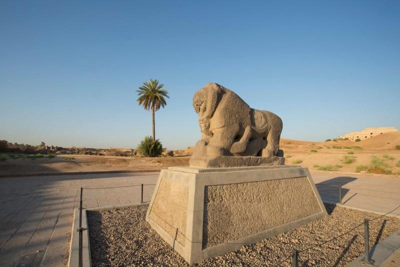 巴比倫之獅象徵巴比倫君王。(法新社檔案照)