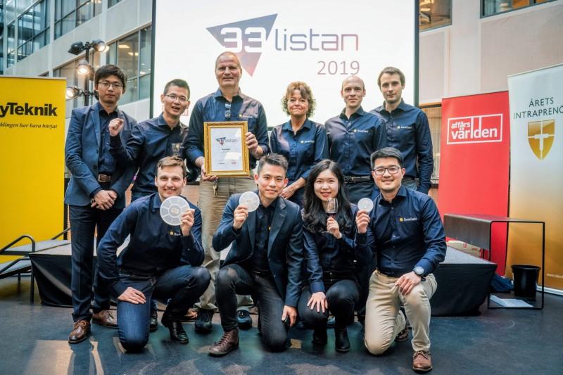 SweGaN AB今年被瑞典媒體評選為瑞典33大最具潛力新創公司。(SweGaN AB提供)