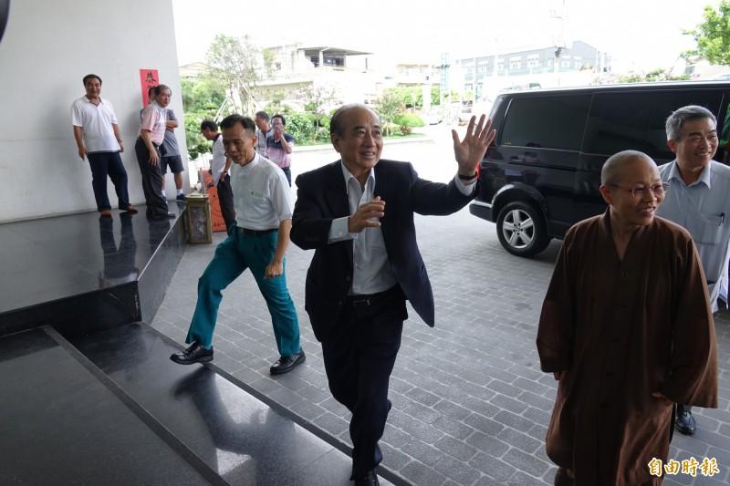 前立法院長王金平,今天下午出席正德全國志工大會師。(記者劉曉欣攝)