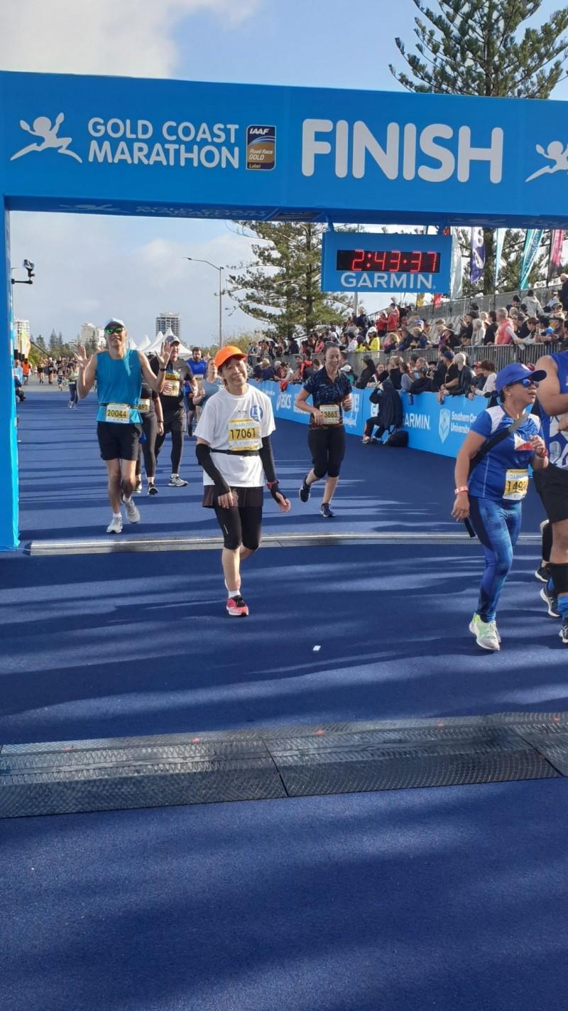 澳洲昆士蘭7月7日舉辦「2019黃金海岸馬拉松」。(新北市體育處提供)
