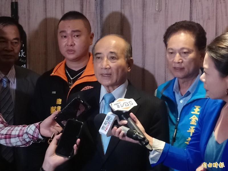 前立法院長王金平受訪時強調,成立王金平之友會是整合基層、不會脫黨競選。(記者謝武雄攝)