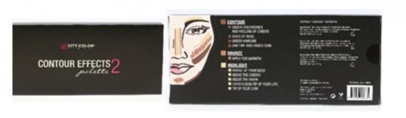 City Color Cosmetics Contour Effects Palette 2 Contour, Bronze, Highlight。(食藥署提供)