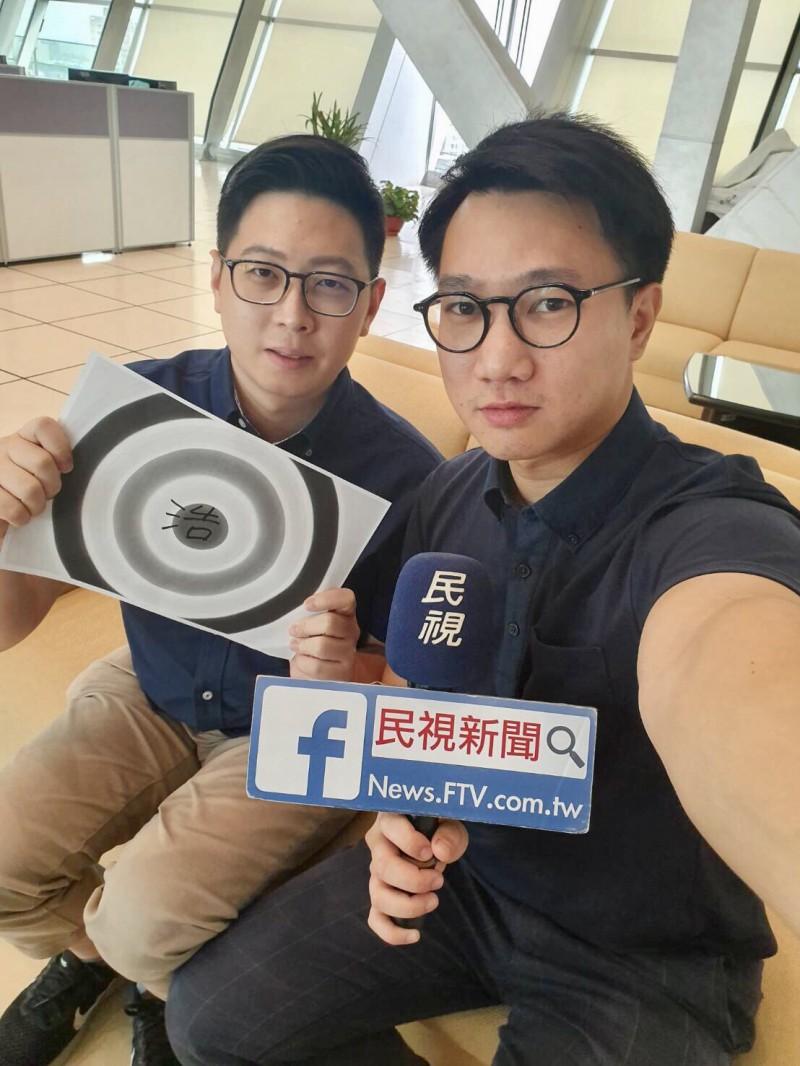 王浩宇(左)、王皓宇(右)見面發現兩人是同年同月生。(王浩宇提供)(記者李容萍攝)