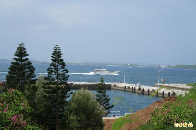 交通部希望將馬公港打造成為「跳島郵輪示範港」、藍色公路基地。(記者劉禹慶攝)