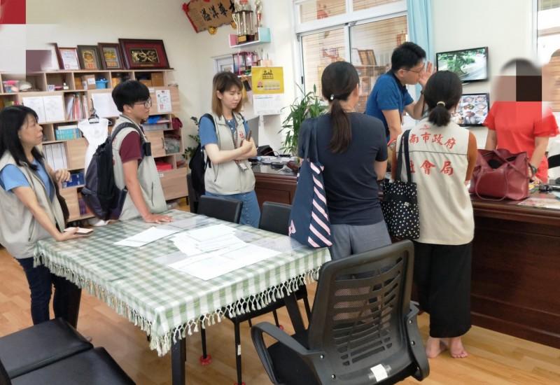 又傳出兒虐案!台南市社會局獲報前往幼兒園調查。(記者蔡文居翻攝)