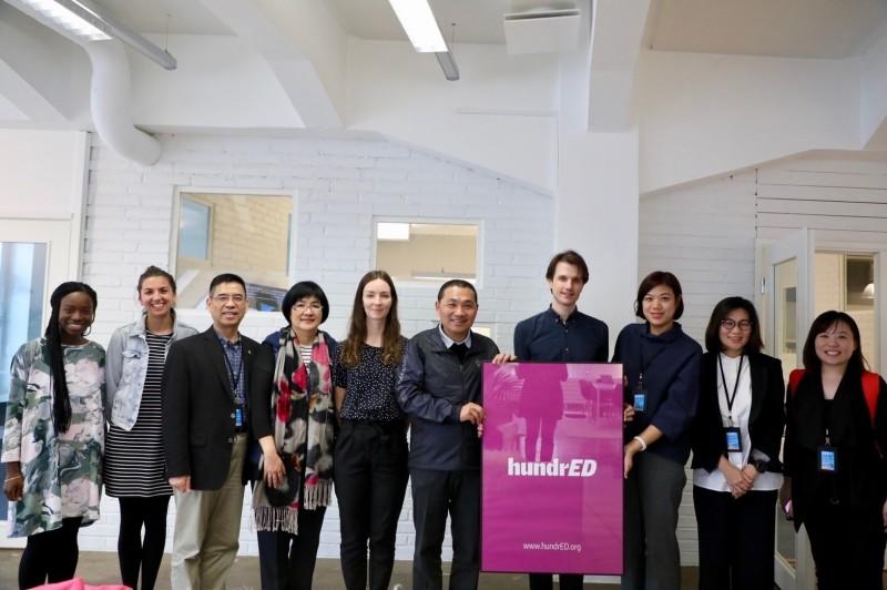 新北市長侯友宜11日下午率市府官員參訪芬蘭非營利組織HundrED。(圖由新北市政府提供)