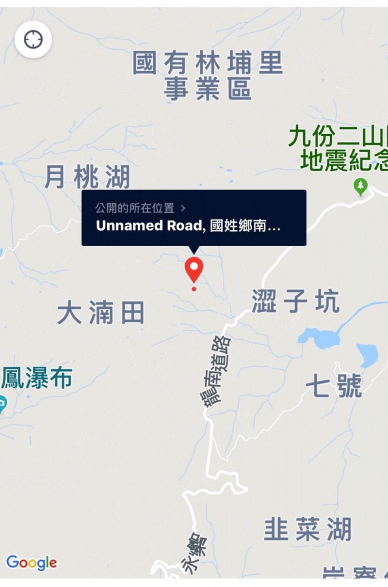 謝琪儒從蔡男發話訊號知人所在的位置。(草屯警方提供)