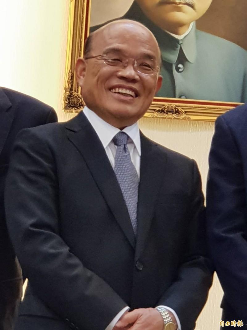行政院長蘇貞昌將下鄉走訪產業。(資料照)