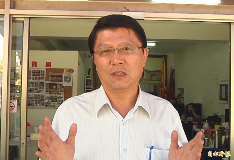 台南市議員謝龍介表示,國民黨不可陷入蔡英文設定好的國安問題。(記者蔡文居攝)