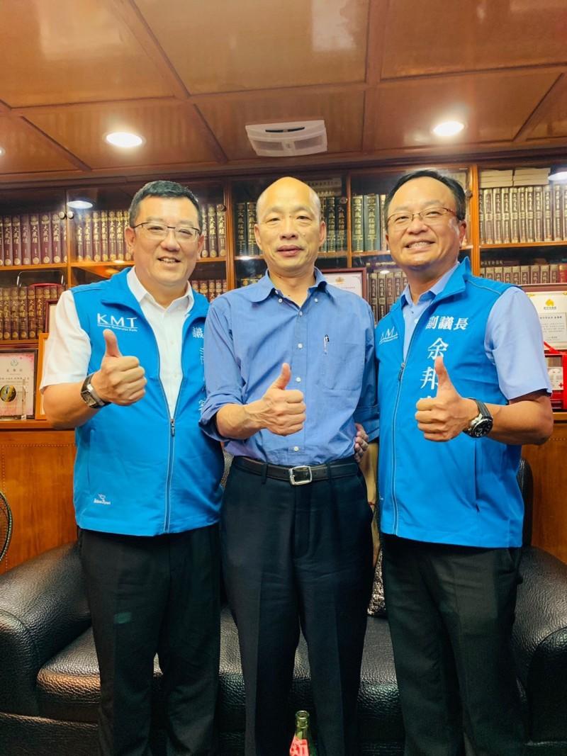 國民黨總統初選民調由韓國瑜勝出,新竹市議會國民黨團也發聲明表示會支持韓參選明年的總統大選,期許贏回執政權。(照片由國民黨團提供)