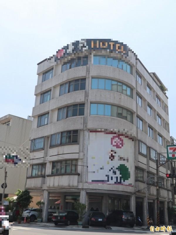 小珍陳屍台中市豐原區某飯店。(記者歐素美攝)