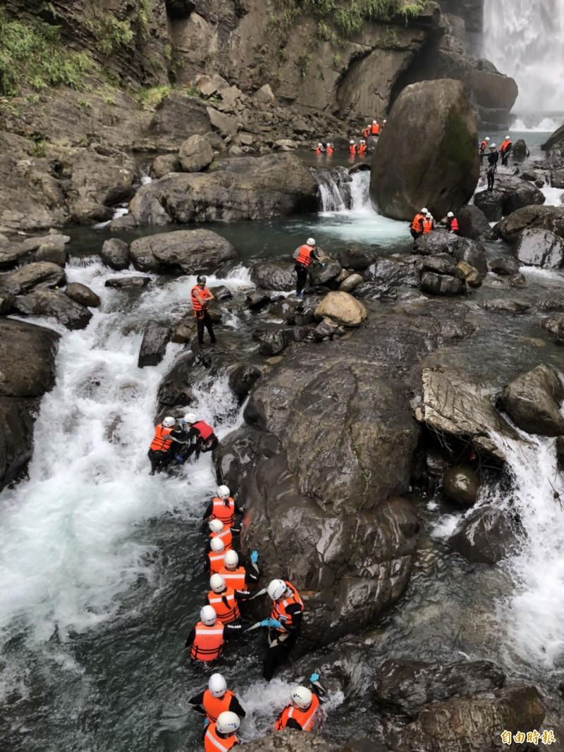 北橫探險節溯溪之旅。(資料照)