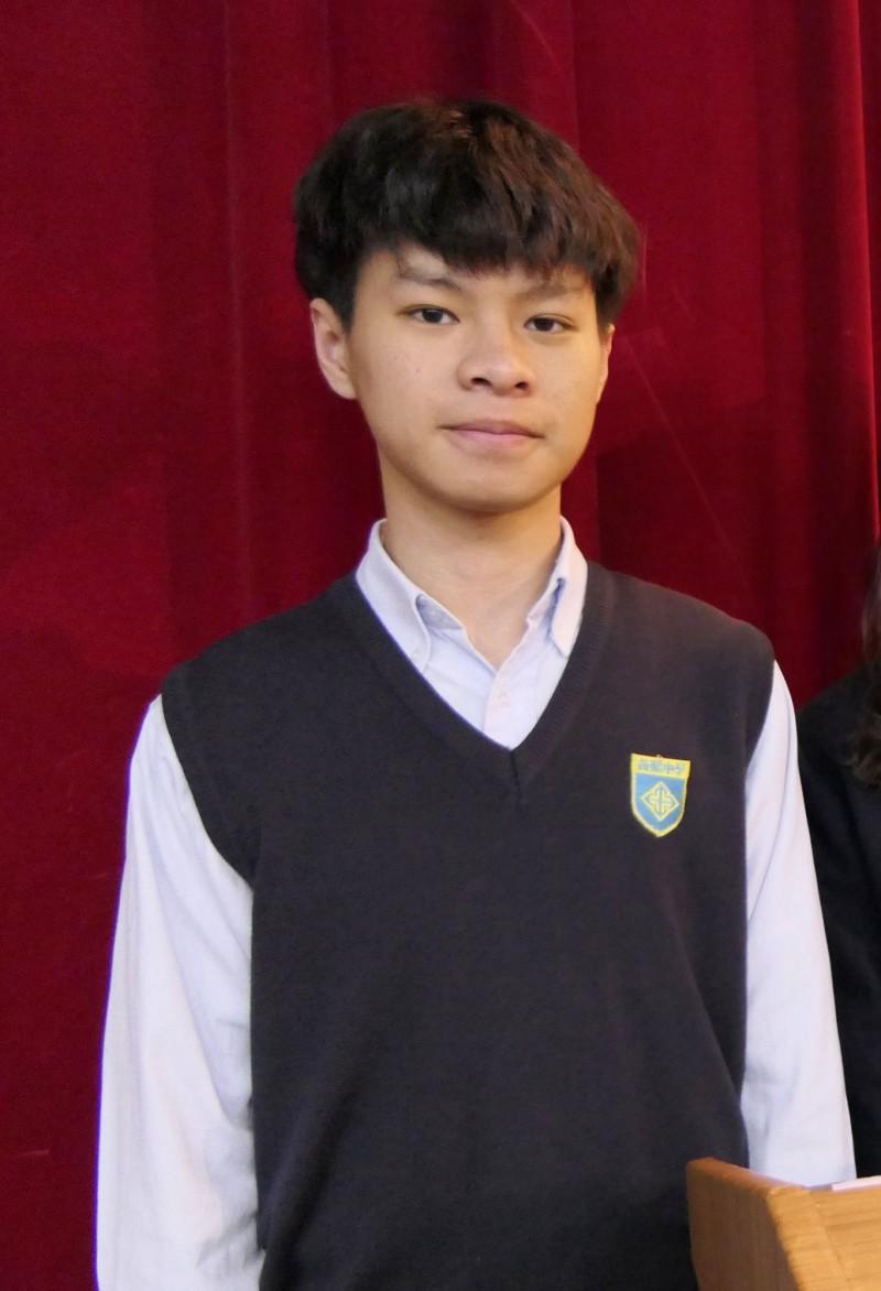 薇閣高中學生徐志雲。(薇閣高中提供)
