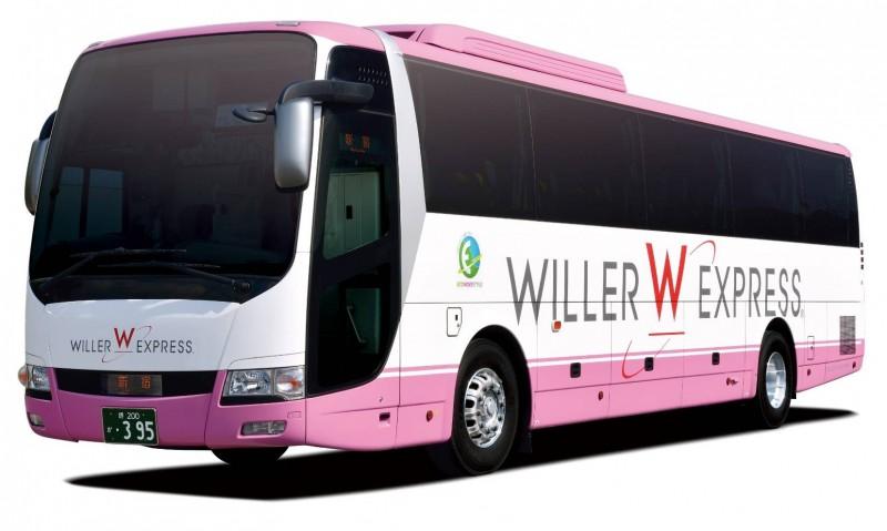 國光客運子公司成運汽車設計的WILLER大巴。(業者提供)