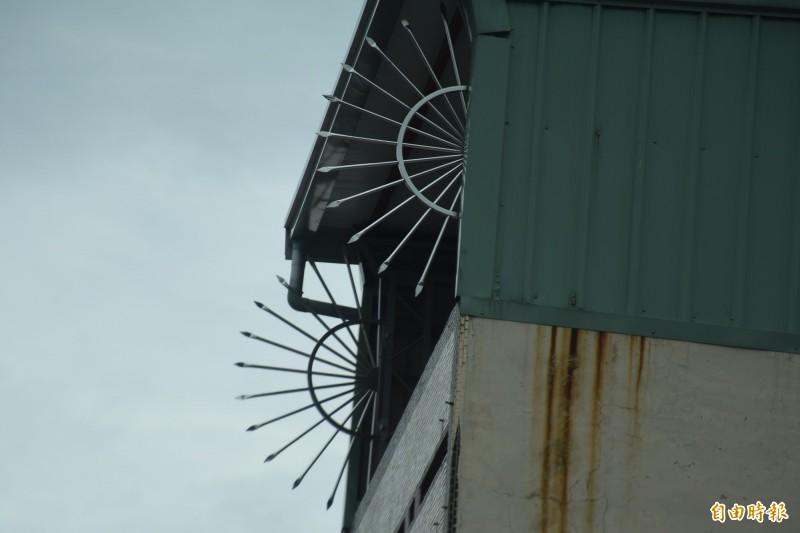 鄉間仍有許多住宅裝設放射狀欄杆防盜。(記者林國賢攝)