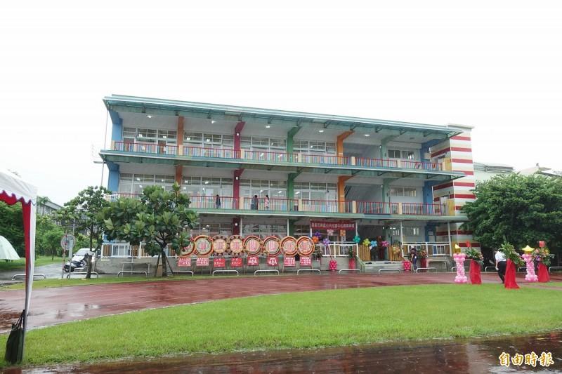 嘉義市東區公共托嬰中心今天開幕。 (記者丁偉杰攝)
