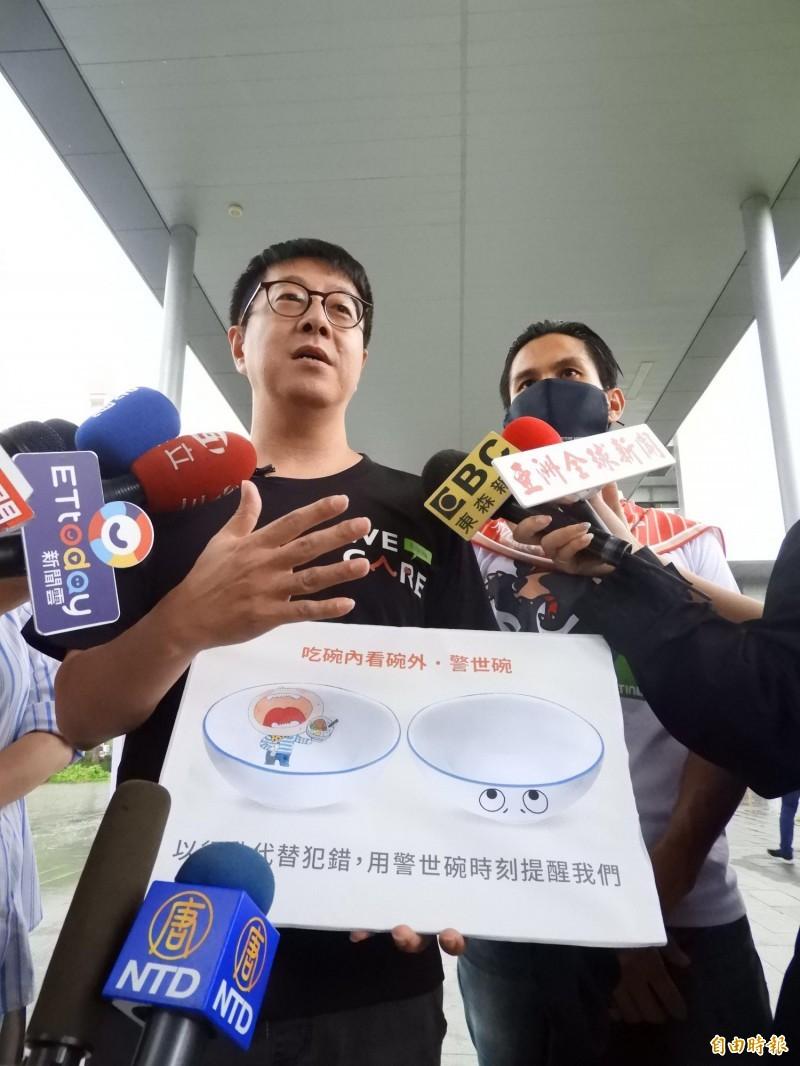 罷免有陰謀論?尹立(左)批韓國瑜有被害妄想症。(記者葛祐豪攝)