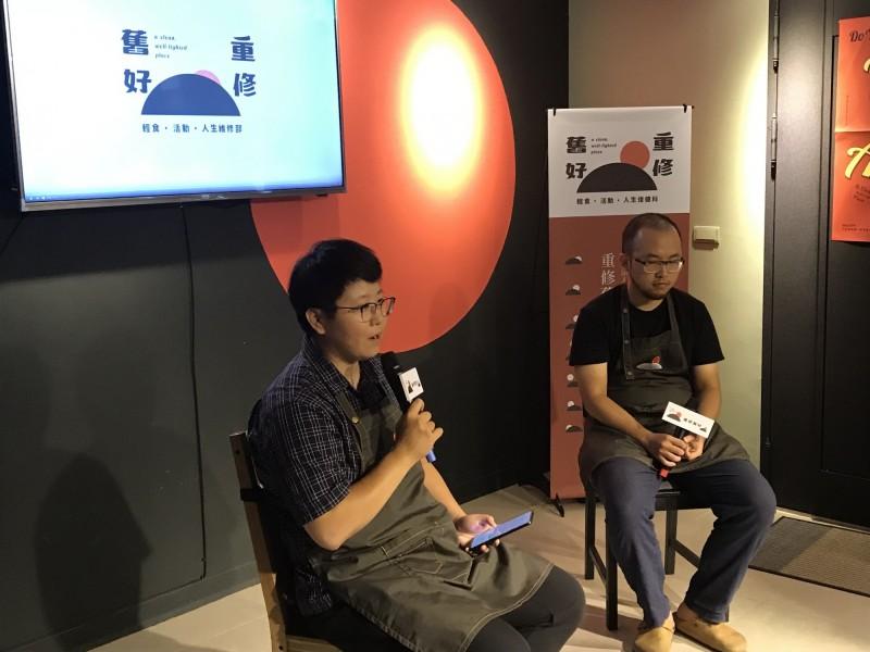 林依婷(左)認為,如果工作站空間擴大、客人變多,無家者反而不太敢進來。(記者蔡思培攝)