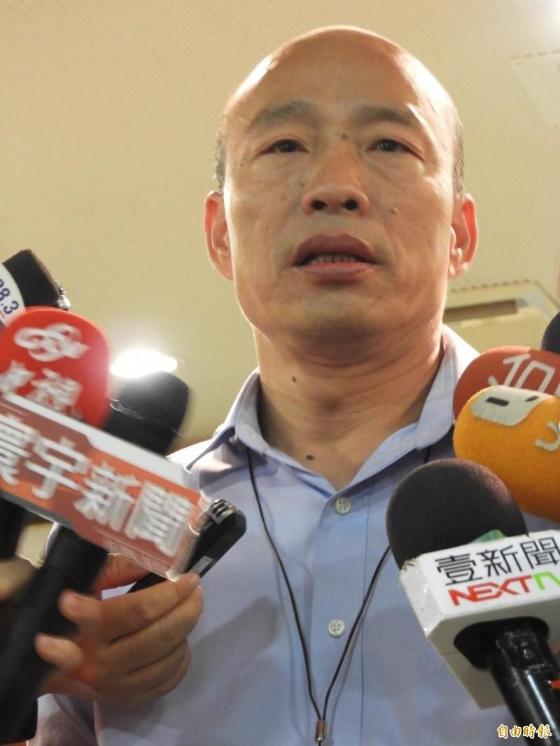 韓國瑜證實,陳雄文將接高雄市副市長。(記者葛祐豪攝)