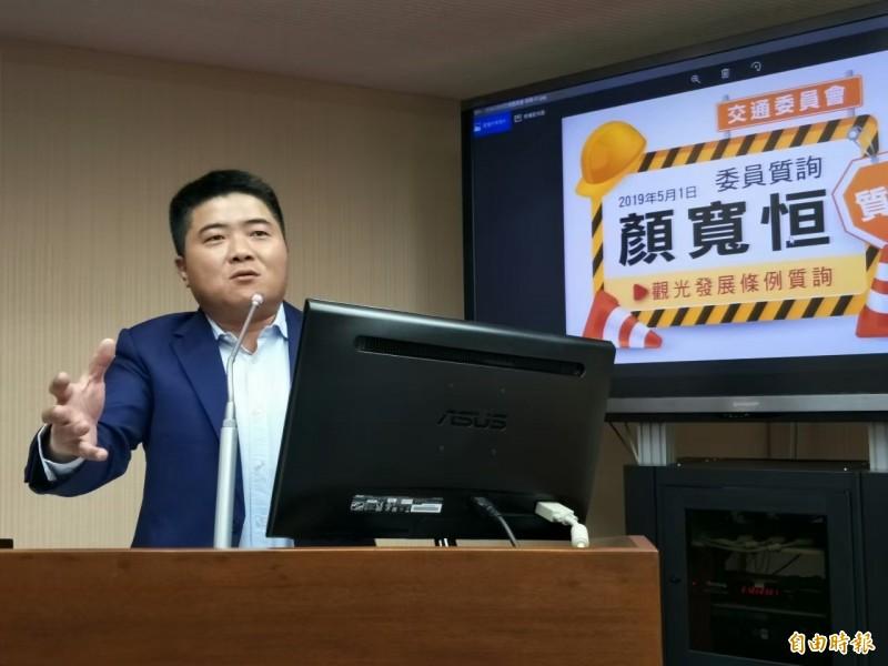 對於香港元朗事件,立委顏寬恒譴責暴力,也要求民進黨不要刻意操作(記者蘇金鳳攝)