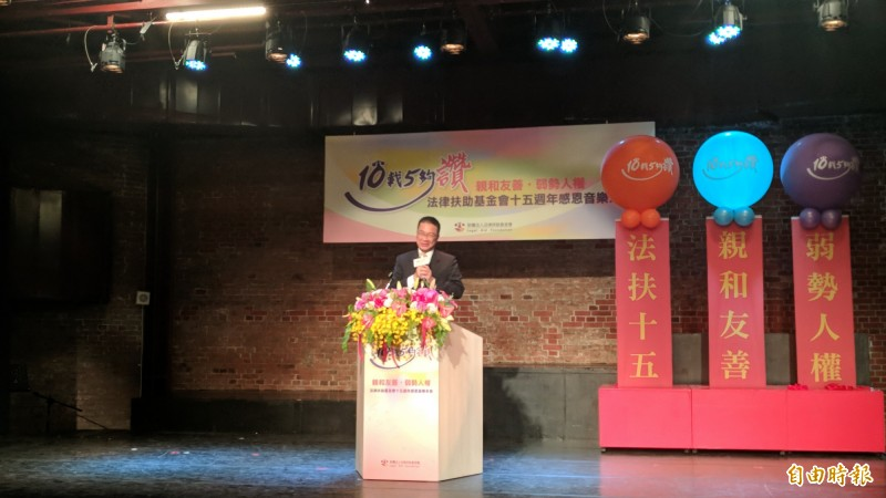 內政部長徐國勇表示我國消除人口販運成績亮眼。(記者吳政峰攝)
