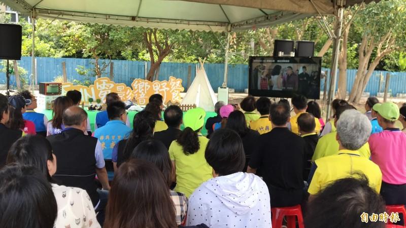 新竹縣竹北市這次用「Fun電影X響野餐~夢幻星野」來打造今年的露天電影院,8月3日起將開張3個週末、共6天,將在全市各點趴趴跑。(記者黃美珠攝)