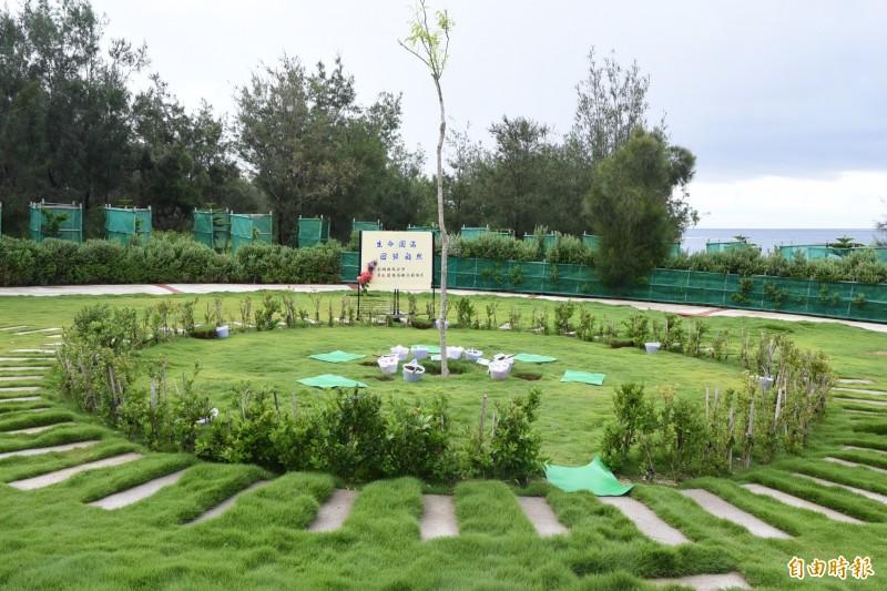 生命紀念園區設立的樹葬環保區,尋求回歸大自然的終點。(記者劉禹慶攝)