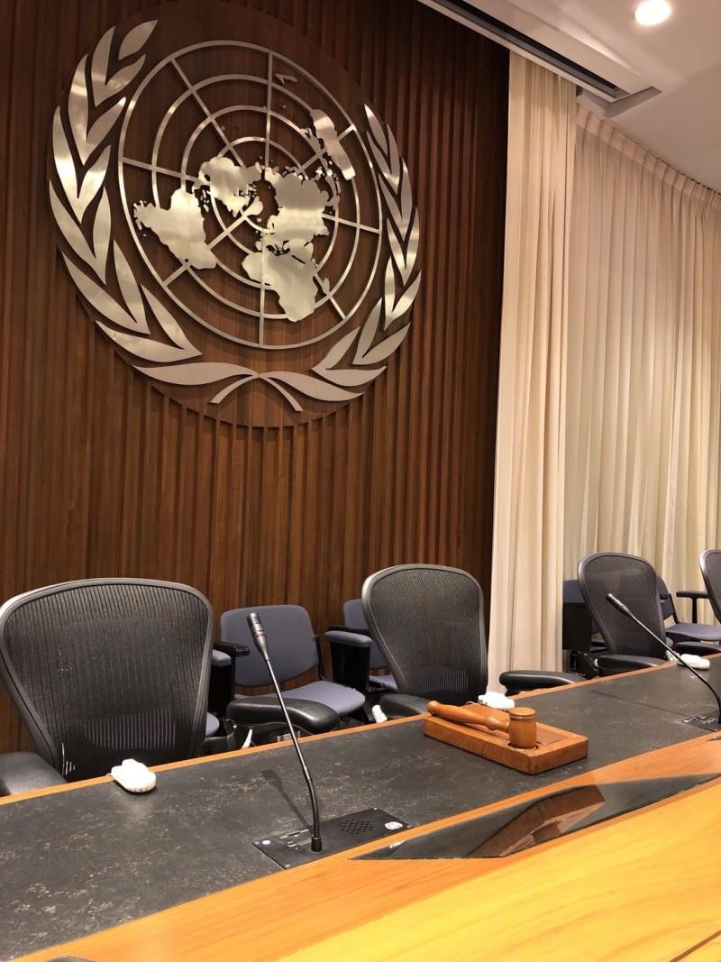 聯合國亞太總部會議廳,約可容納數十人。(記者劉宜庭攝)