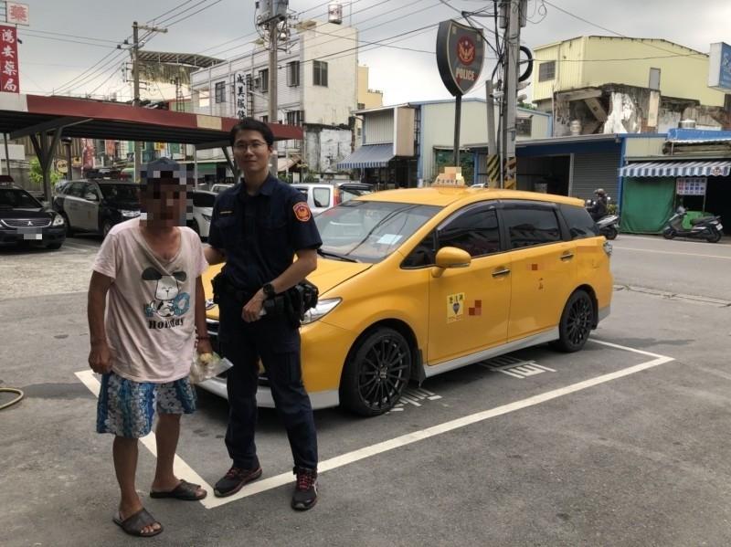 黃男迷途一天,對過程全然斷片,警方代叫計程車協助返家。(記者洪臣宏翻攝)