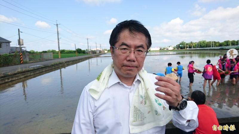 台南市長黃偉哲。(記者楊金城攝)