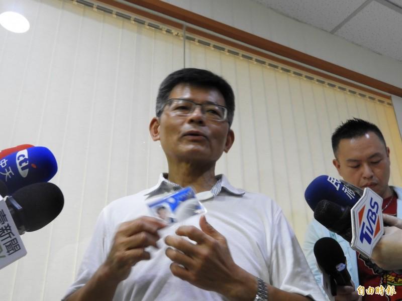 楊秋興宣布退出國民黨。(記者葛祐豪攝)