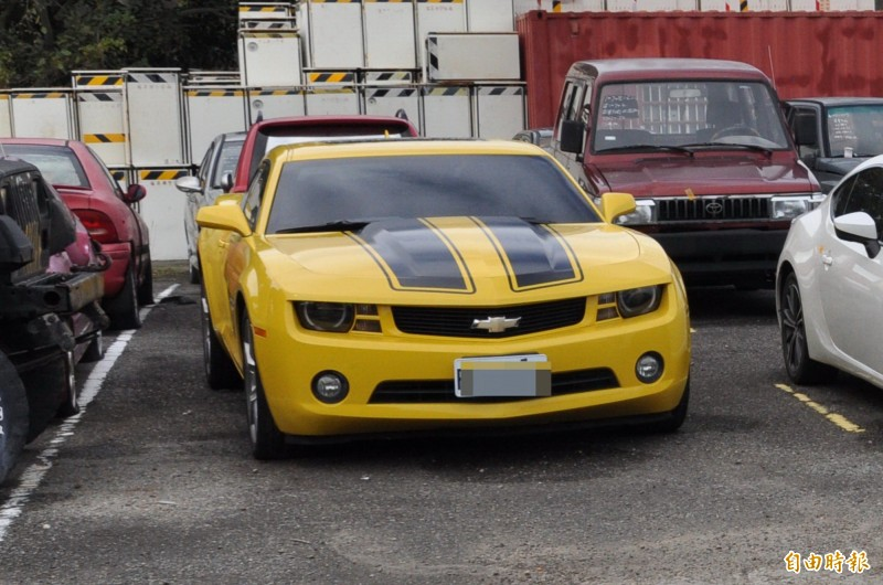 雪佛蘭大黃蜂是很多人的夢幻跑車車款。(記者彭健禮攝)