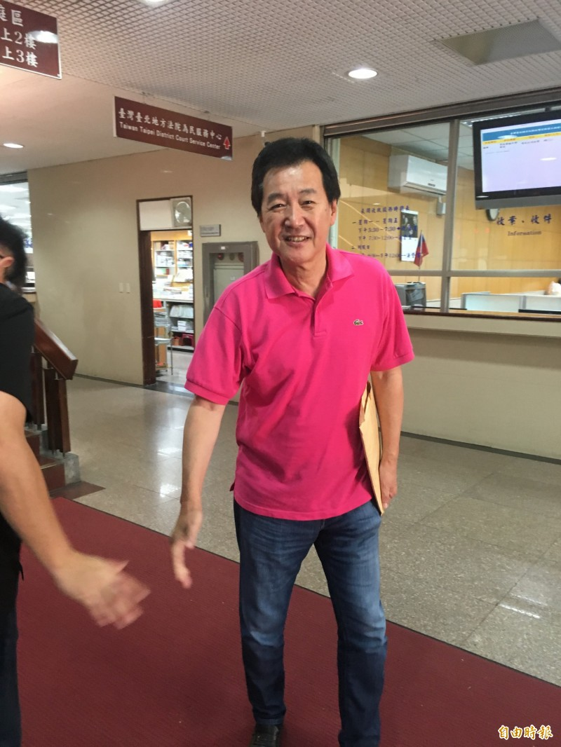 立委費鴻泰被陳菊控告加重誹謗,今到台北地院開庭。(記者張文川攝)