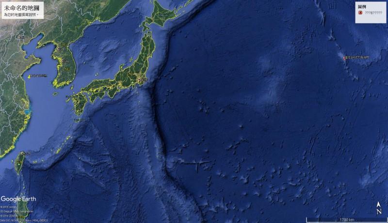 進隆泰6號失聯位置距離最近的中途島,還有700多海浬,目前搜救單位已請美日兩國協尋船跡。(記者張議晨翻攝)