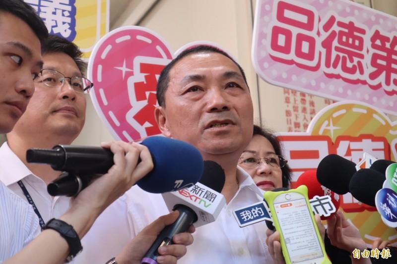 侯友宜表示,離選舉還有一段時間,應該先把市政做好,一切以市政為優先。(記者周湘芸攝)