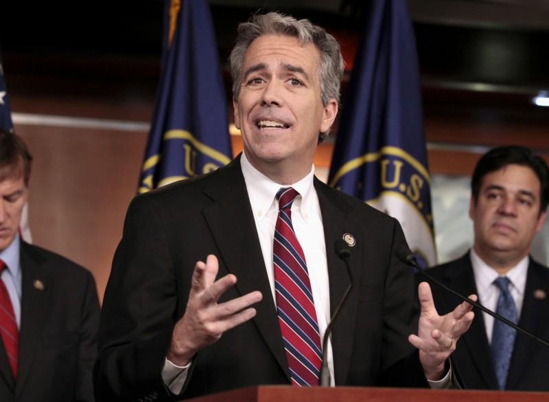 美國前國會眾議員華爾希25日宣布投身2020年總統大選共和黨黨內初選。圖為華爾希2011年在國會記者會上的檔案照。(美聯社)