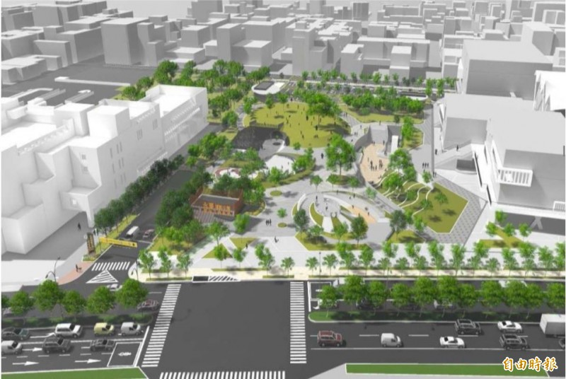 中西區體3地下停車場設計願景圖。(記者洪瑞琴翻攝)