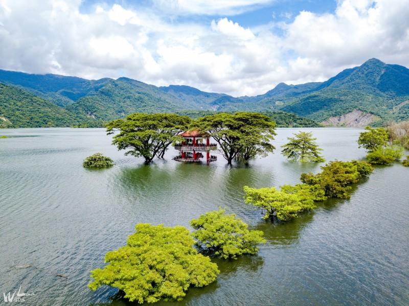 大埔鄉曾文水庫水漾森林限定美景。(李品辰攝影提供)