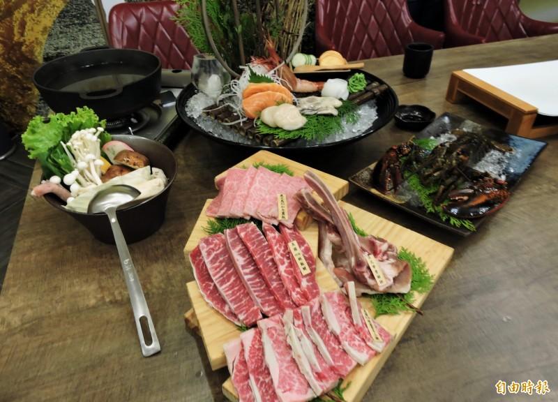宮鶴提供各種頂級食材。(記者張菁雅攝)
