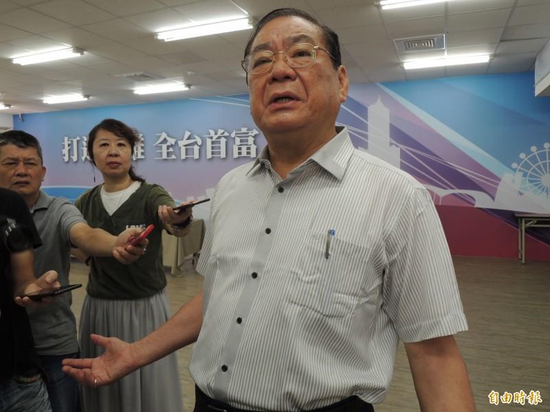 國民黨副主席兼秘書長曾永權指出,韓國瑜民調已止跌回升。(記者王榮祥攝)