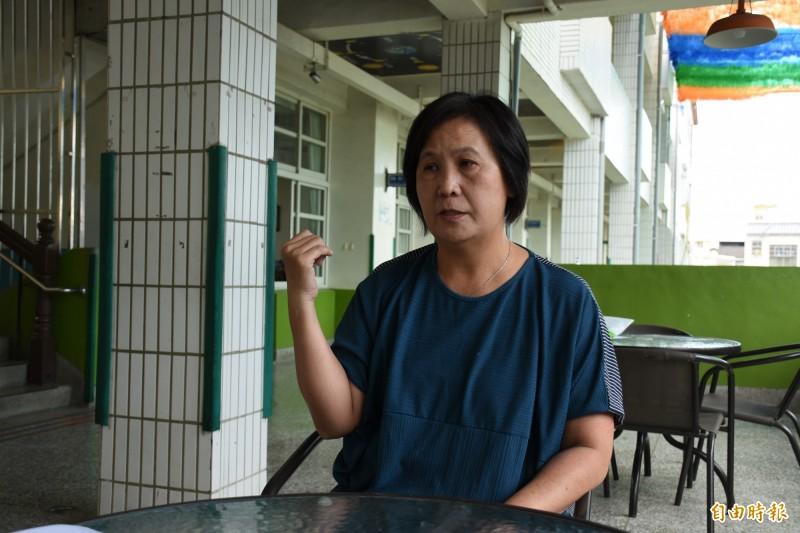 蔡淑玲談起921受困獲救,充滿感恩與感謝。(記者林國賢攝)