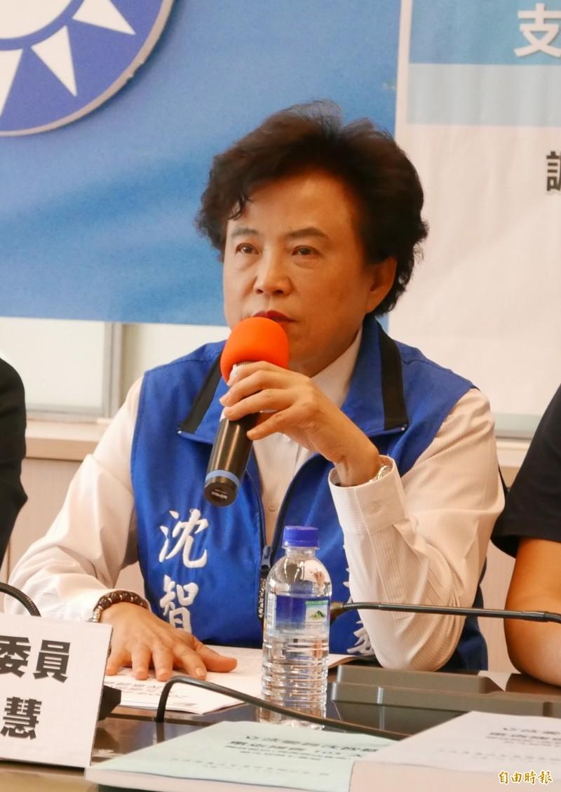 沈智慧指韓國瑜支持者接到民調電話反其道而行。(記者蔡淑媛攝)