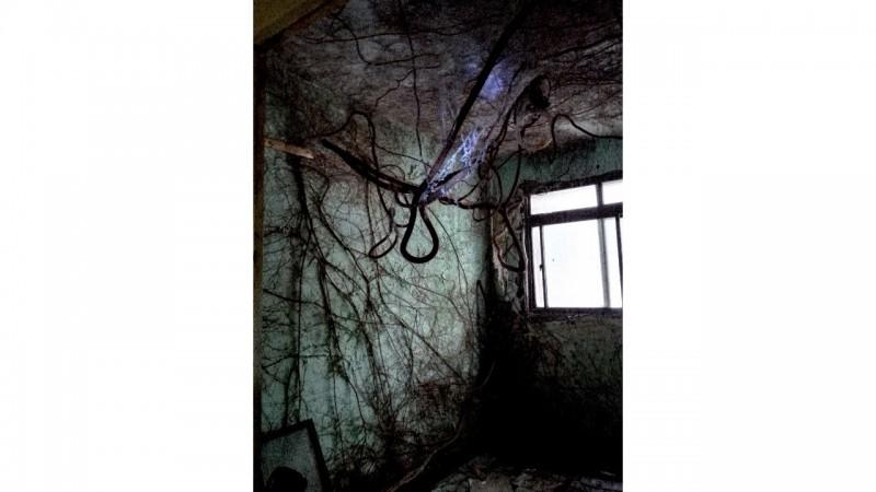 新北市政府城鄉局「這什麼鬼地方」線上攝影展,票選第一名的60年老建築,畫面宛如電影《倩女幽魂》的蘭若寺。(新北市政府提供)