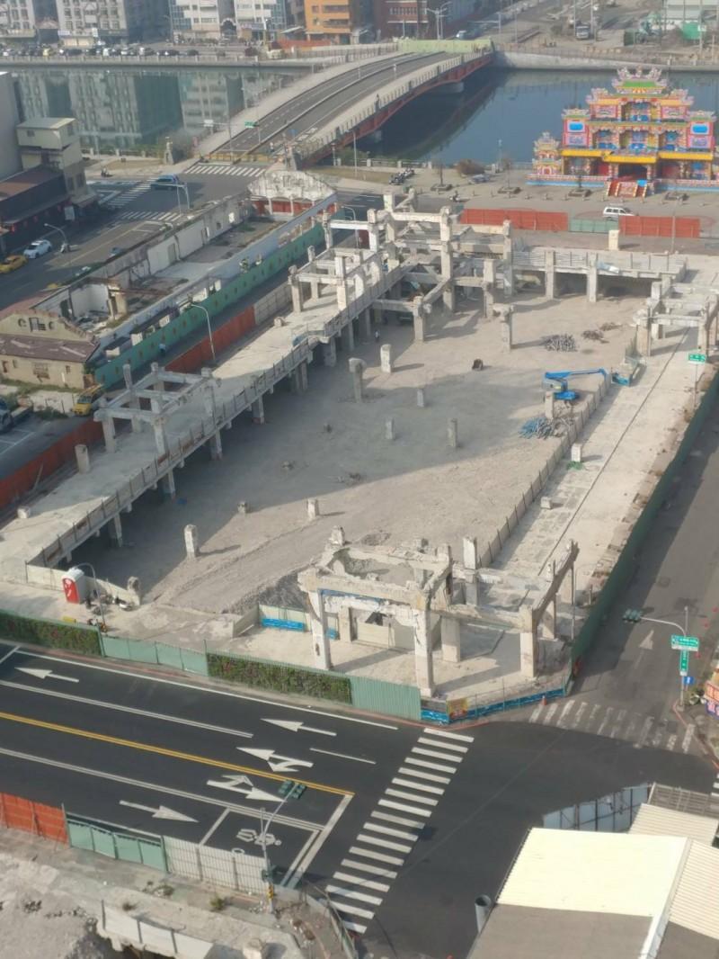 中國城景觀廣場改造工程預於今年底完工。(南市都發局提供)