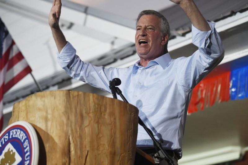 紐約市長白思豪20日宣布退出2020年美國總統選戰。圖為白思豪16日在南卡羅來納州發表演說。(美聯社)
