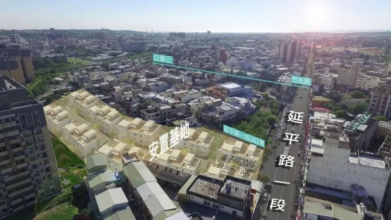 新竹市政府表示,公道三拆遷戶占地9936平方公尺的安置基地內,規劃82塊基地供拆遷戶選配,公共設施工程預計於今年底完工。(圖由新竹市政府提供)