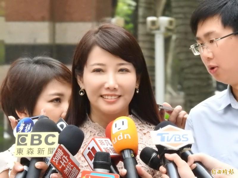 郭台銘辦公室發言人蔡沁瑜。(記者陳柔蓁攝)