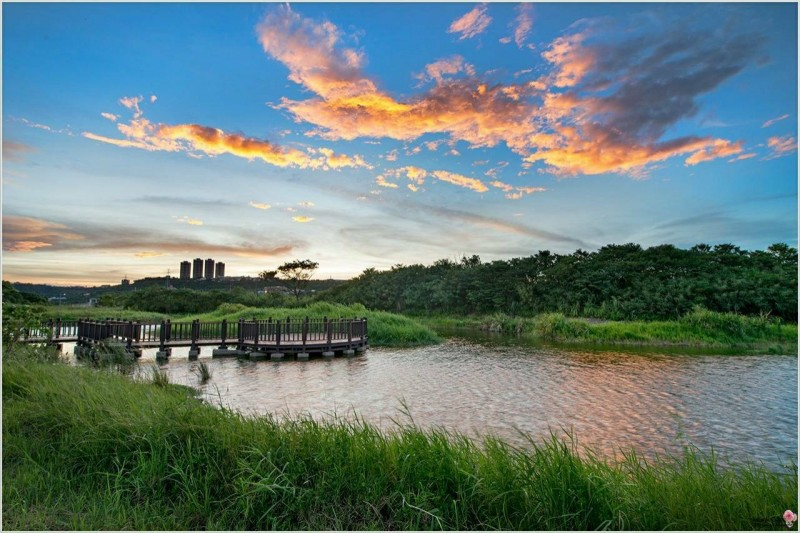 「大漢溪親水園區休閒計畫」打造自然生態景觀。(水務局提供)